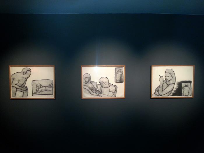 Ida Applebroog, Mac/Val, 2014, installation view